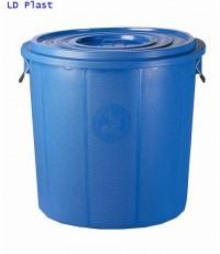 ถังน้ำ+ฝา 53 gl สีน้ำเงิน (เตี้ย)