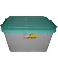 กล่องมีล้อ 003 ฝาสีฟ้า A