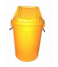 ถังขยะ+ฝาแกว่ง 19 gl สีเหลือง