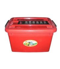 กล่องมีล้อ 200-4 45 Lt สีแดง B