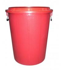 ถังน้ำ+ฝา 31 gl สีแดง