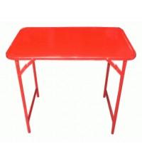 โต๊ะขาสวิงเหล็ก 3 ฟุต สีแดง