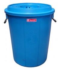 ถังน้ำ+ฝา 16 gl สีน้ำเงิน