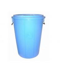 ถังน้ำ+ฝา 22 gl สีน้ำเงิน