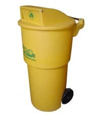 ถังขยะมีล้อ TC-150 RD สีเหลือง