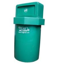 ถังขยะ+ฝา TC-160 มีลิ้น สีเขียว