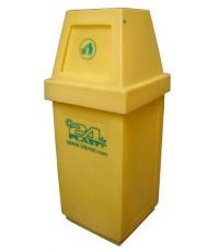 ถังขยะ TC-60 ฝามีลิ้น สีเหลือง