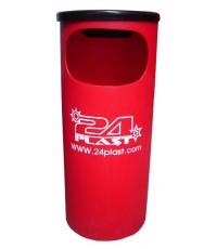 ถังขยะ+ที่เขี่ยบุหรี่ TC-30 สีแดง