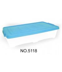 กล่องมีล้อ 5118 30 Lt ฝาสีฟ้า