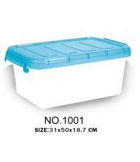 กล่องหูล็อค 1001 ฝาสีฟ้า