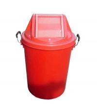 ถังขยะ+ฝาแกว่ง 19 gl สีแดง