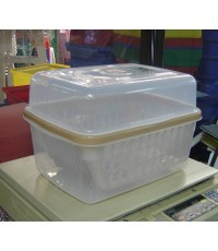 กล่องคว่ำจาน No.2400 สีขาว