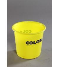 ถังผงไม่มีฝาปิด No.300 สีเหลือง