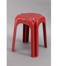 เก้าอี้เหลี่ยมสตูล 999 สีแดง B