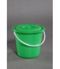 ถังน้ำ+ฝา 3.5 gl สีเขียว vcp