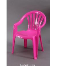 เก้าอี้ท้าวแขนเด็ก 169 สีชมพูสดใส