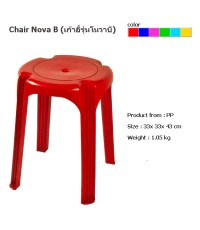 เก้าอี้กลมโนวาบี สีแดง A