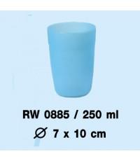 แก้วน้ำมีขอบ 0885 คละสี