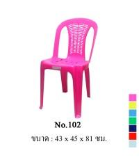 เก้าอี้พิงหลัง No.102 สีแดง A
