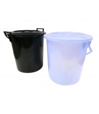 ถังน้ำ+ฝา No.137 8.5 gl สีขาวใส
