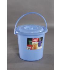 ถังน้ำ+ฝา 6.5 gl สีฟ้าใส