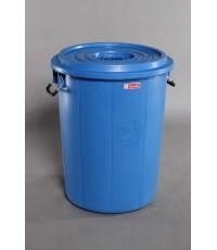 ถังน้ำ+ฝา 30 gl สีน้ำเงิน