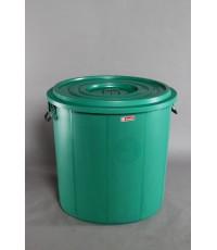 ถังน้ำ+ฝา 53 gl สีเขียว (เตี้ย)