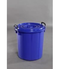 ถังน้ำพลาสติก+ฝา 10 gl 666 สีน้ำเงิน