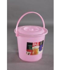 ถังน้ำ 17 Lt 4.5 gl สีชมพูใส