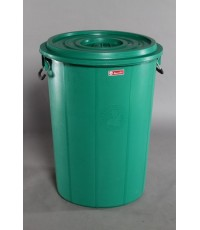 ถังน้ำ+ฝา 57 gl สีเขียว