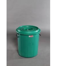 ถังน้ำ+ฝา 12 gl สีเขียว S