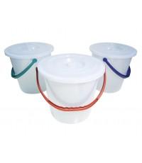 ถังน้ำ+ฝา No.135 5 gl. สีขาว