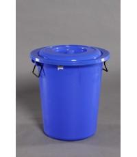 ถังน้ำ+ฝา 12 gl สีน้ำเงิน A vcp