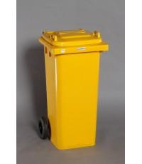 ถังขยะ 120 Lt ฝาเรียบ สีเหลือง M