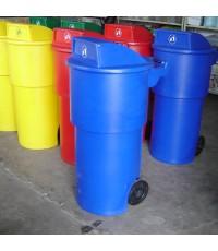 ถังขยะมีล้อ TC-150 RD สีน้ำเงิน