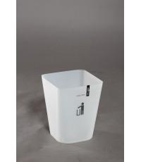 ถังขยะ HH-222P 5.5 Lt สีขาวใส