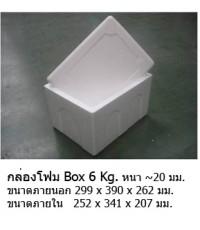 กล่องโฟมBox 6 kg. 290x385x260mm.