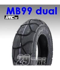 ยางนอก irc รุ่น MB99 dual TL ขอบ 10 (120/90-10, 130/90-10)