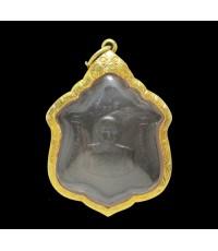 เหรียญ หลวงพ่อแดง วัดเขาบันไดอิฐ ครบ 95 ปี กองบัญชาการกองทัพภาคที่ 1 ปี 2511 เลี่ยมทอง90 นน. 15.52 g