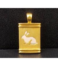 จี้ ปีเถาะ กระต่าย GOLD MASTER ทอง24K + ทอง14K งานสวย น่ารักมาก นน. 5.41 g