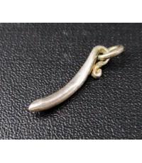 จี้ มะเขือยาว เงิน925 งานเก่า หลุดจำนำ นน. 0 .83 g