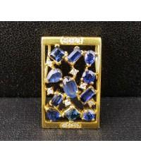จี้ ไพลิน เจียร แฟนซี ฝังเพชร 12 เม็ด 0.12 กะรัต ทอง22K งานสวย น่ารักมาก นน. 4.06 g