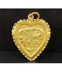 จี้ หัวใจ ปลาทอง มังกร เป็ดแมนดารินคู่ ทอง100 ความหมายดี น่าเก็บสะสม นน. 7.29 g