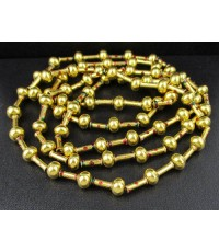 สร้อยคอ ทองลงยา ลายก้านไม้ขีด รอบเส้น ทอง90 ทองเก่า งานโบราณ สวยมาก นน. 55.08 g