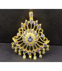 จี้ อุบะ ไพลิน เจียร ตุ้งติ้ง ทอง90 งานเก่า หลุดจำนำ สวยมาก นน. 14.00 g