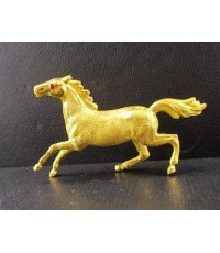 ม้า  ทอง99.99 ความหมายดี สวยน่าสะสม นน. 13.70 g