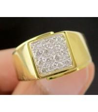 แหวน เพชรทรงสี่เหลี่ยม เพชร 16 เม็ด 0.24 กะรัต ทอง90 หลุดจำนำ งานสวยมาก นน. 6.54 g
