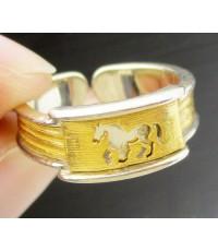 แหวน GOLD MASTER ทอง24K รูปม้า 2 กษัตริย์ งานสวยมาก นน. 6.03 g