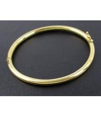 กำไล หลอด อิตาลี750 ทอง18K สีทอง ลายเกลี้ยง เปิดข้าง หลุดจำนำ นน. 10.79 g