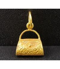 จี้ กระเป๋า แกะลาย ทอง90 งานเก่า สวยน่าสะสม นน. 2.28 g
